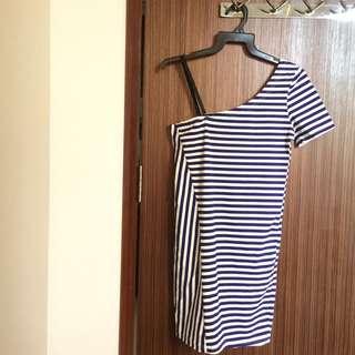 BNWT Blue & White Toga Dress