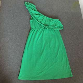 BNWT Green Frilly Toga Dress/Top