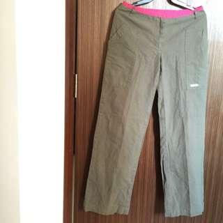 Preloved Calvin Klein Army Green Pants