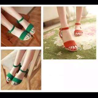 In Stock Green Strappy Flats (size 37)