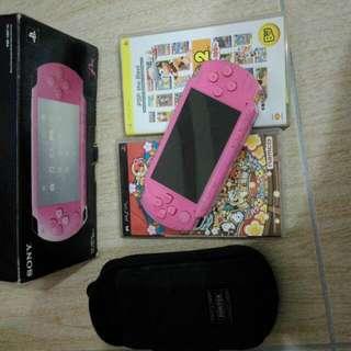 PSP 1007 粉紅限量厚機+Porter專用攜行袋