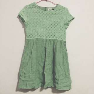 Mint Crochet Babydoll Dress