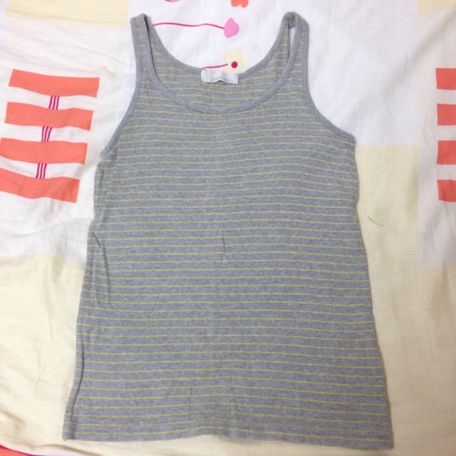 二手衣隨便賣-簡單條紋內搭小背心