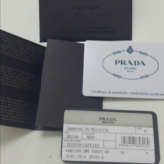 (Available) Prada Tessuto Saffiano Nylon Tote Bag