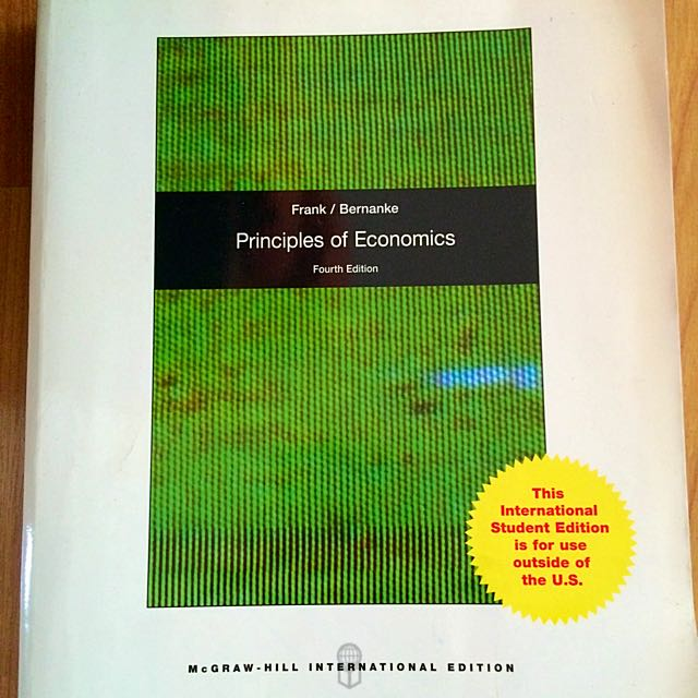 Principles of economics 4th edition by robert h frank and ben s photo photo fandeluxe Image collections