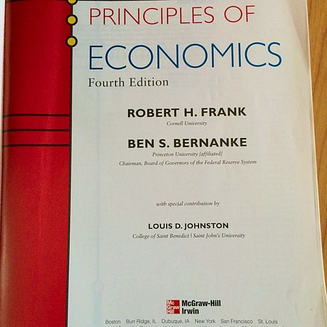 Principles of economics 4th edition by robert h frank and ben s principles of economics 4th edition by robert h frank and ben s bernanke books stationery textbooks on carousell fandeluxe Image collections