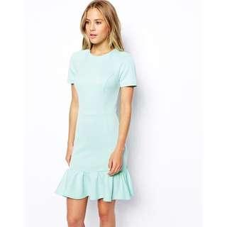 ASOS Dress With Flutter Hem