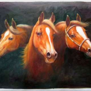 3 Good Horses Oil Painting