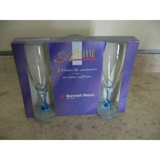 Bormioli Rocco champagne glasses (new)