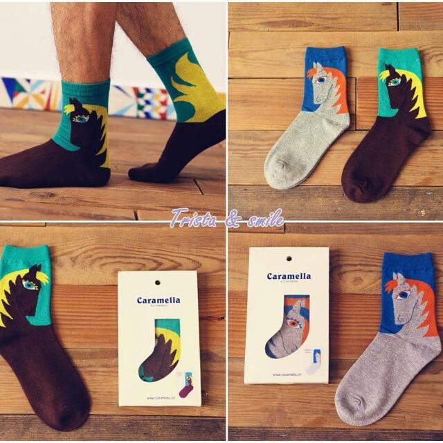 獨角獸純棉中筒襪