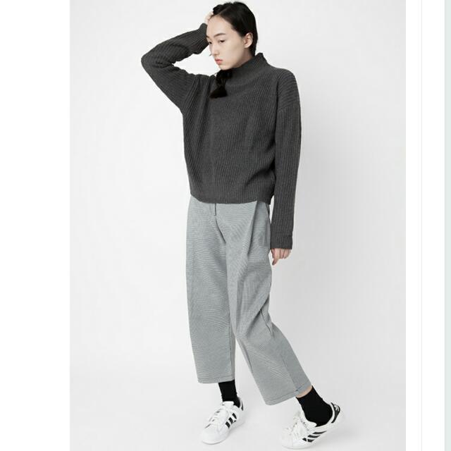 iDid - ulazzang vintage ,千鳥格寬鬆西裝褲
