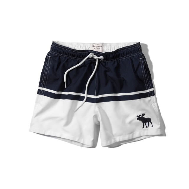 d32bdf96ca SOLDOUT] Abercrombie & Fitch A&F CAMPUS FIT SWIM SHORTS (NAVY ...