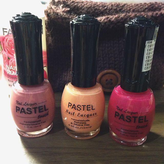 PASTEL Touch 韓國超飽和指彩 霧面裸粉/ 初春嫩橘/ 亮麗桃紅