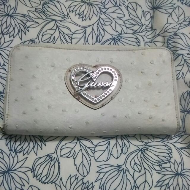 Preloved Guess Sheep Skin Long Wallet