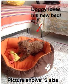 Dog/cat nest bed with removable and washable bedding -very soft and cozy! (5 colours, 2 sizes)