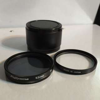 Fujiyama UV and polarizing filter Kit for compact camera (made in Japan)