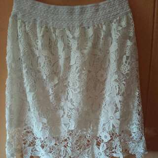 Cheap 2XL-3XL Beautiful Brand New White Skirt Stretchable Material