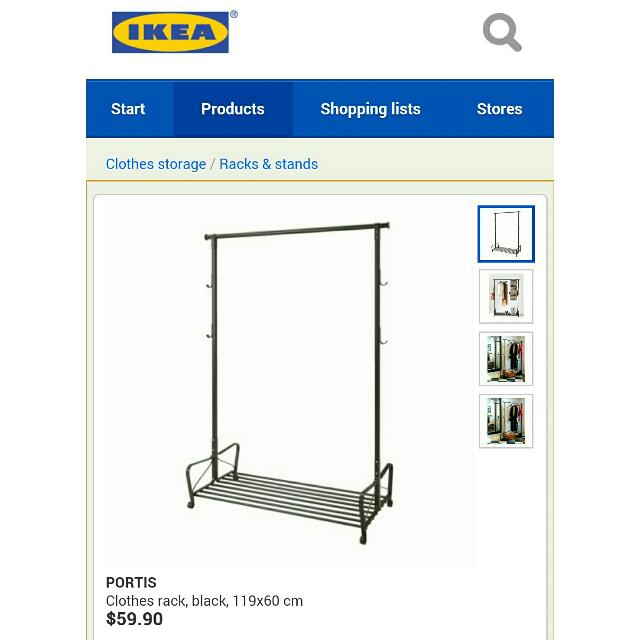 Ikea Portis Clothes Rack