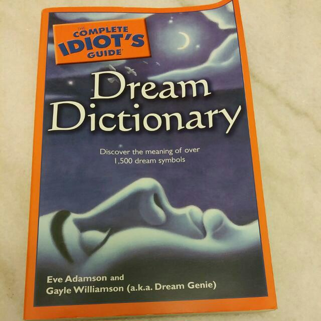 The Complete Idiots Guide Dream Dictionary Books Stationery On