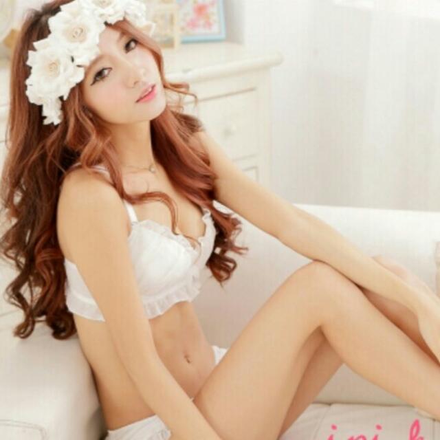 愛粉紅。。。可愛內衣(白)