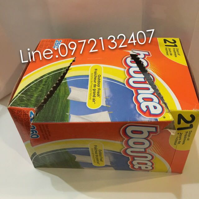 BOUNCE 戶外清香衣物柔軟紙 COSTCO購入