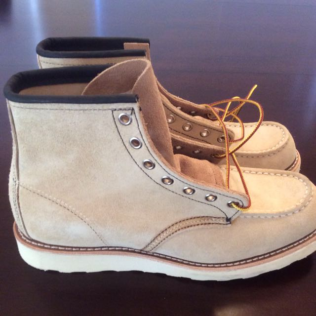BNWOB Red Wing 8173 US8 - Moc Toe Sand Suede Abilene Roughout Leather Boots