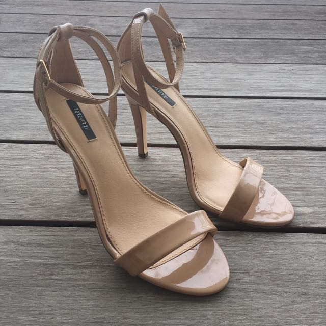 893e65b74af Forever 21 Strappy Heels (Nude Colour)