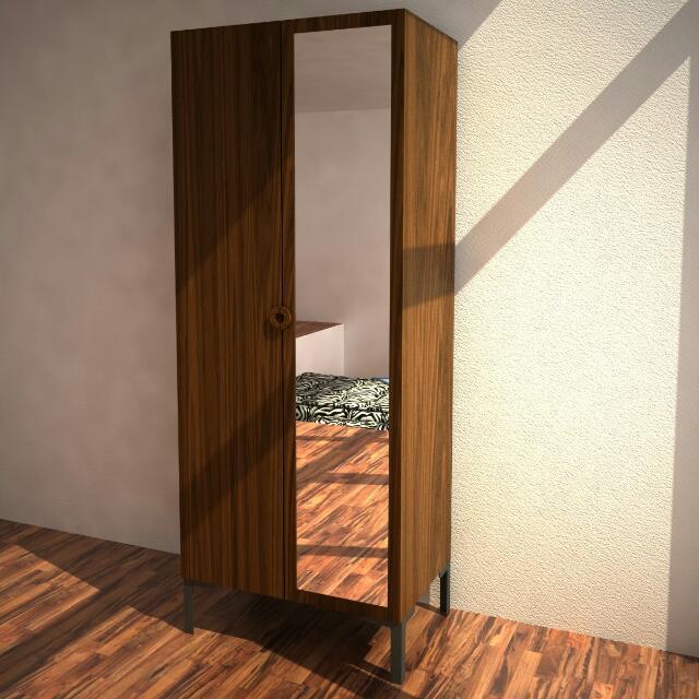 Reserved Ikea Engan 2 Door Wardrobe With Mirror Home Furniture