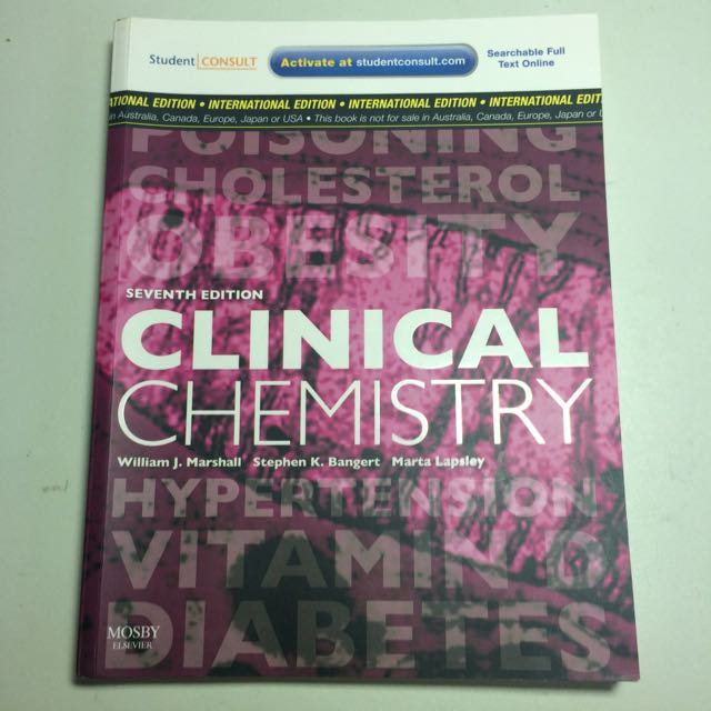 Latest 7th Edition Clinical Chemistry By William J. Marshall, Stephen K. Bangert & Marta Lapsley