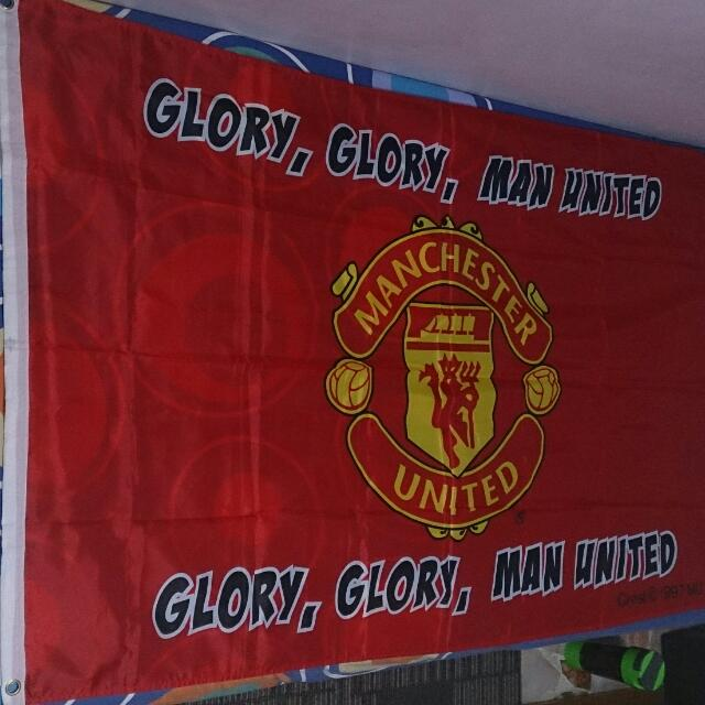 Manchester United Flag Sports On Carousell