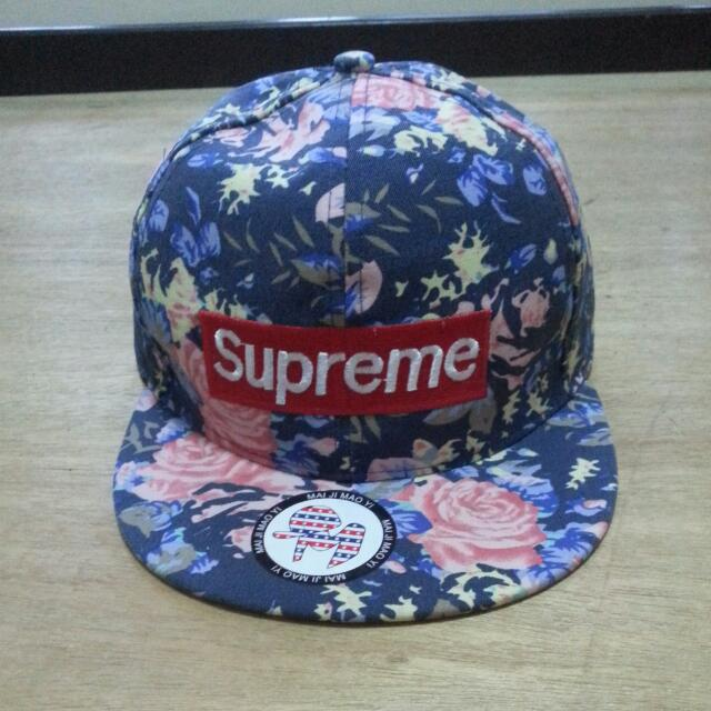 Not Authentic. Floral Supreme Snapback 7540325a885