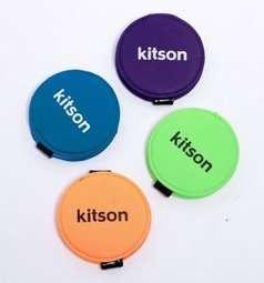 【kitson】 繽紛馬卡紅小圓鏡 (紫)