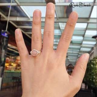 Pink Morganite Vortex Ring