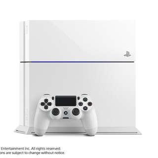 Brand New Glacier White PS4 Console 500GB With Warranty