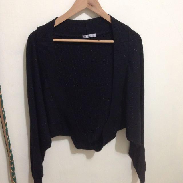 香港羊毛針織短版罩衫