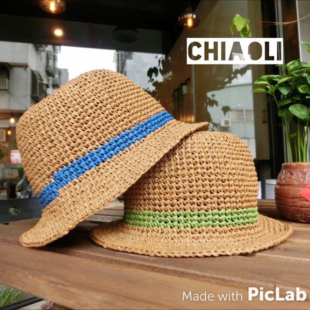 **手工編織帽**兒童紳士帽