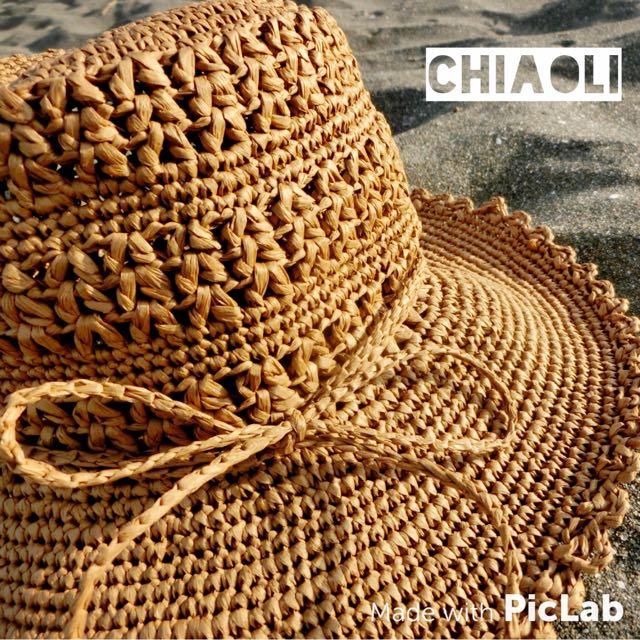 **手工編織帽**渡假帽