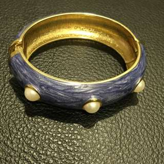 Bangle with Faux Pearl Embellishments