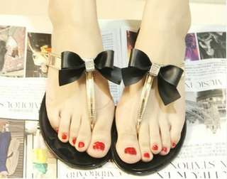 Jelly Sandals with Bows