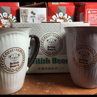 (全新)英國熊🇬🇧🐻條紋杯二入