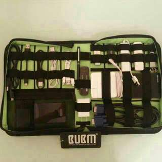 BUBM Cable and Gadget organiser EDC pouch (Extra Large) - Hard cover