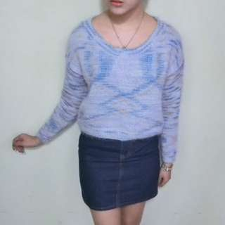 9成新—紫色毛針織上衣