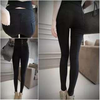 全新—交叉造型黑褲M