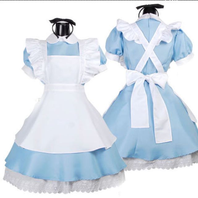 COSPLAY愛麗絲夢遊仙境 套裝 女僕裝 M