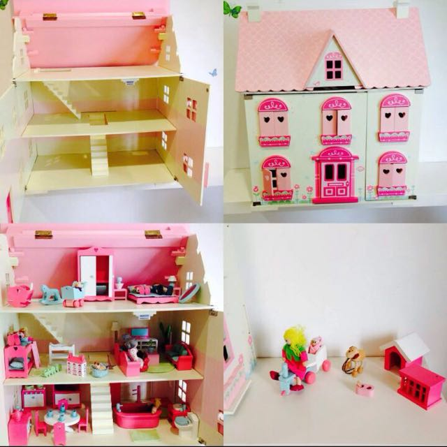 Elc Rosebud Wooden Doll House Complete Set Toys Games On Carousell