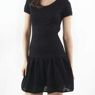 Intoxiquette Dropwaist Tee Dress In Black
