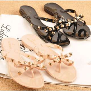 Jelly Sandals with Embellishments