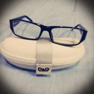 全新 D&G 黑框眼鏡