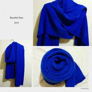 ⛄毛巾布圍巾披肩(寶藍)