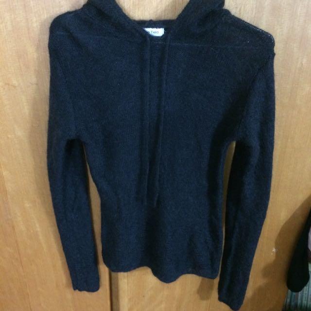 二手-台灣製造深灰毛衣